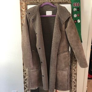Velvet by Graham and Spencer teddy Faux suede coat